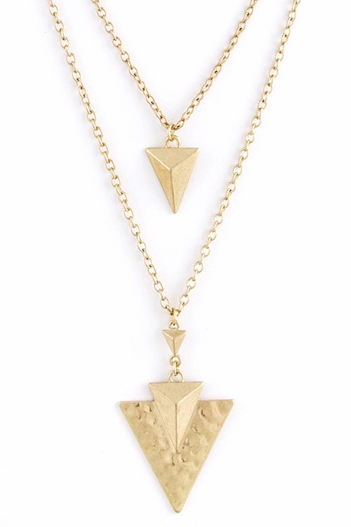 Anjani Double Arrow Chevron Long Necklace $25