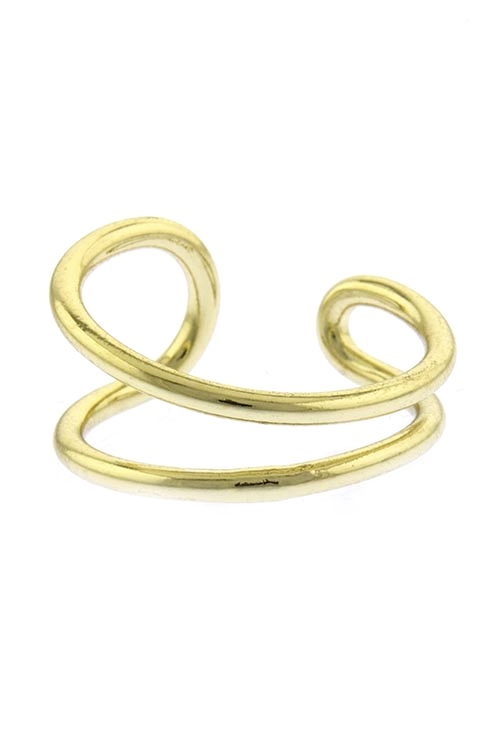 Sienna Curved Gold Ring $20