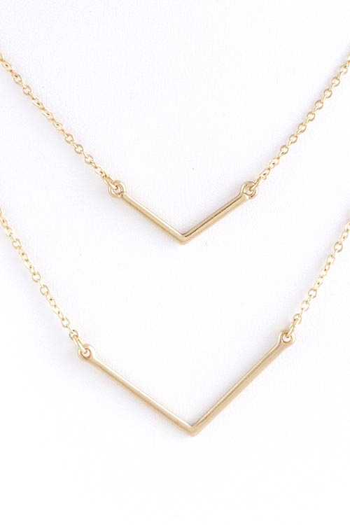 Double Bar Delicate Gold Necklace $25