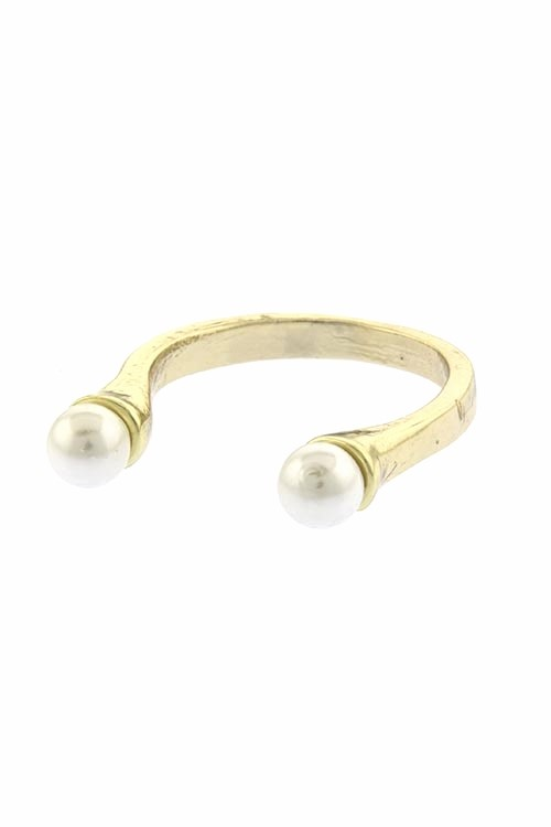 Dacey Pearl Tipped Fashion Ring Gold $20