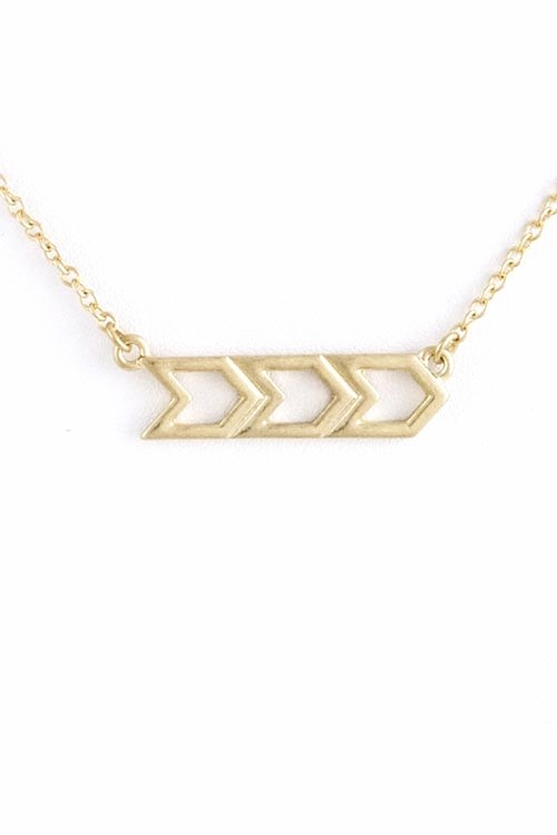 Chiara Chevron Gold Necklace $25