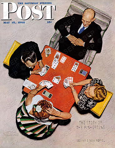 A classic Norman Rockwell cover for The Saturday Evening Post