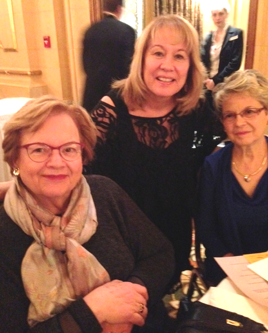 Carolynne   and  Joan Stone  (centre) at the annual Manitoba Historical Society's                                   Sir John A. Macdonald Dinner               Hotel Fort Garry