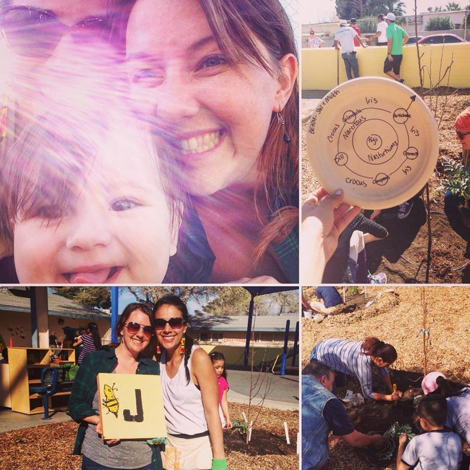 Community build day of the PreK Apple Guild garden and a new outdoor classroom.