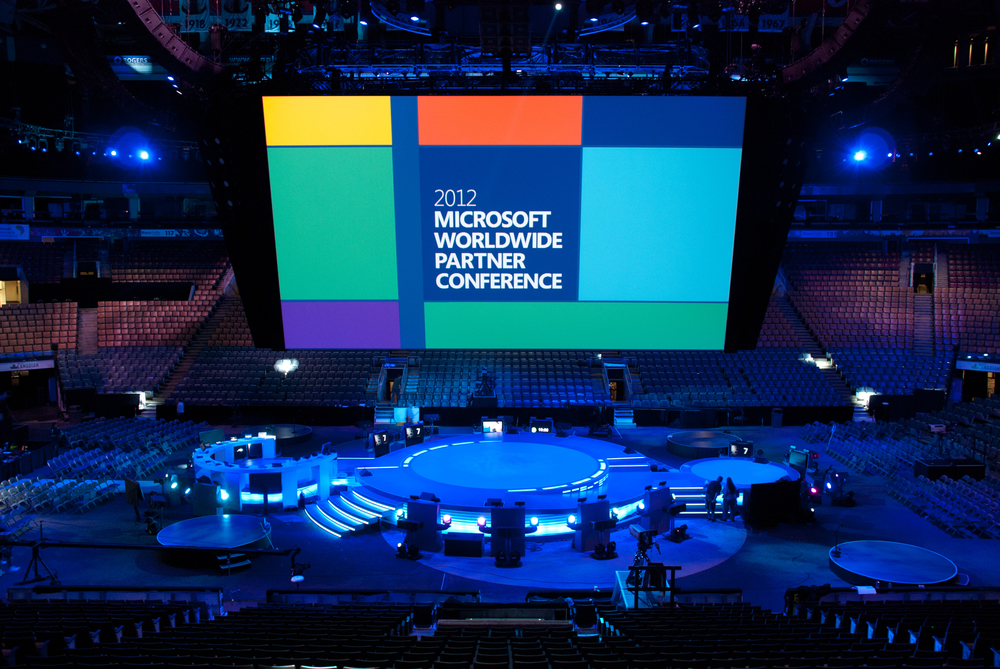 Microsoft reused this set for four events over two years.