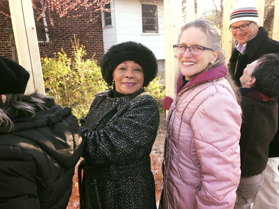 Habitat Spartanburg relies on partnerships, like the one with the South Converse Street Neighborhood Association -- led by Ruth Littlejohn (left) and the Spartanburg Interfaith Alliance, led by Rev. Sally Beth Shore (right), among others.