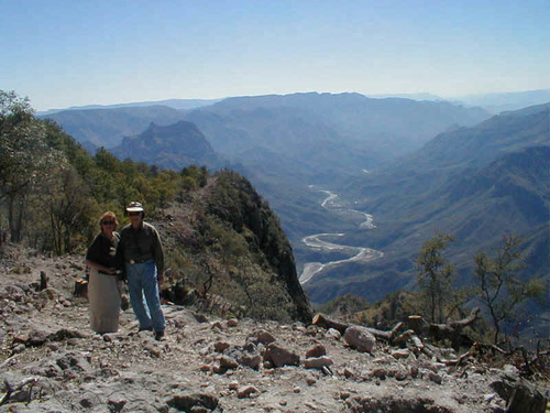 Looking into the Urique Canyon, deeper than the Grand Canyon, from near Cerro Gallegos
