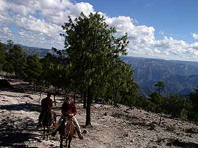 Puerto hike turned into Horseback ride on the Canyon rim
