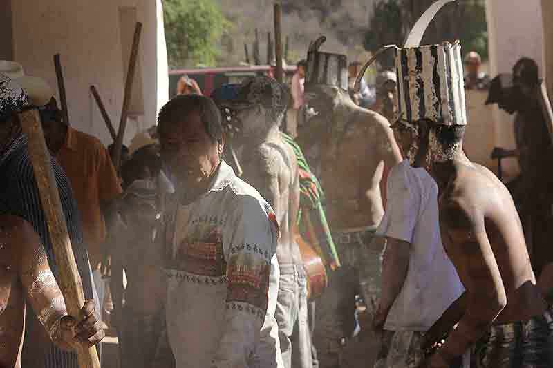 Semana Santa Easter Raramuri Ceremonies Guadelupe Coronado Soldiers vs Pharisees