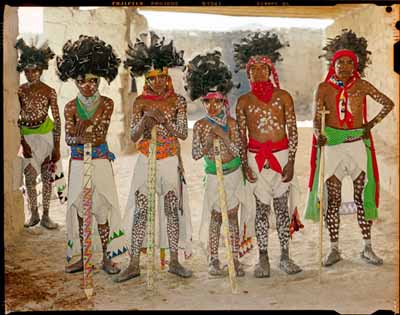 The Raramuri Indians (also known as the Tarahumara) in ceremonial attire