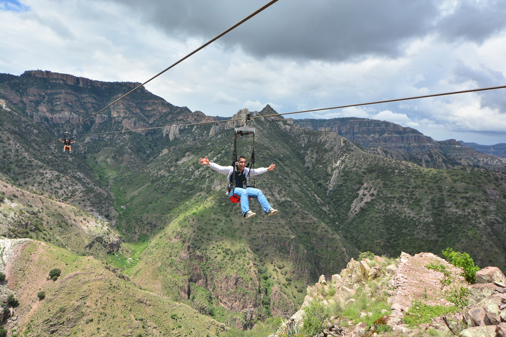 On the amaziing Copper Canyon Zip-Rider