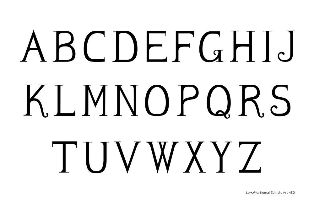 Lorraine Typeface - Uppercase