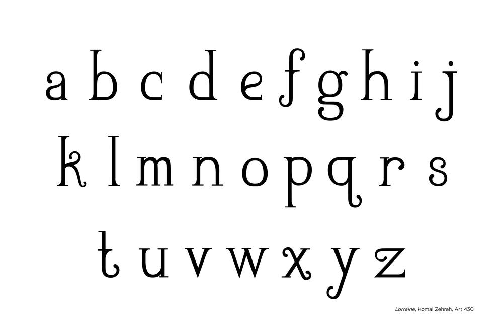 Lorraine Typeface - Lowercase