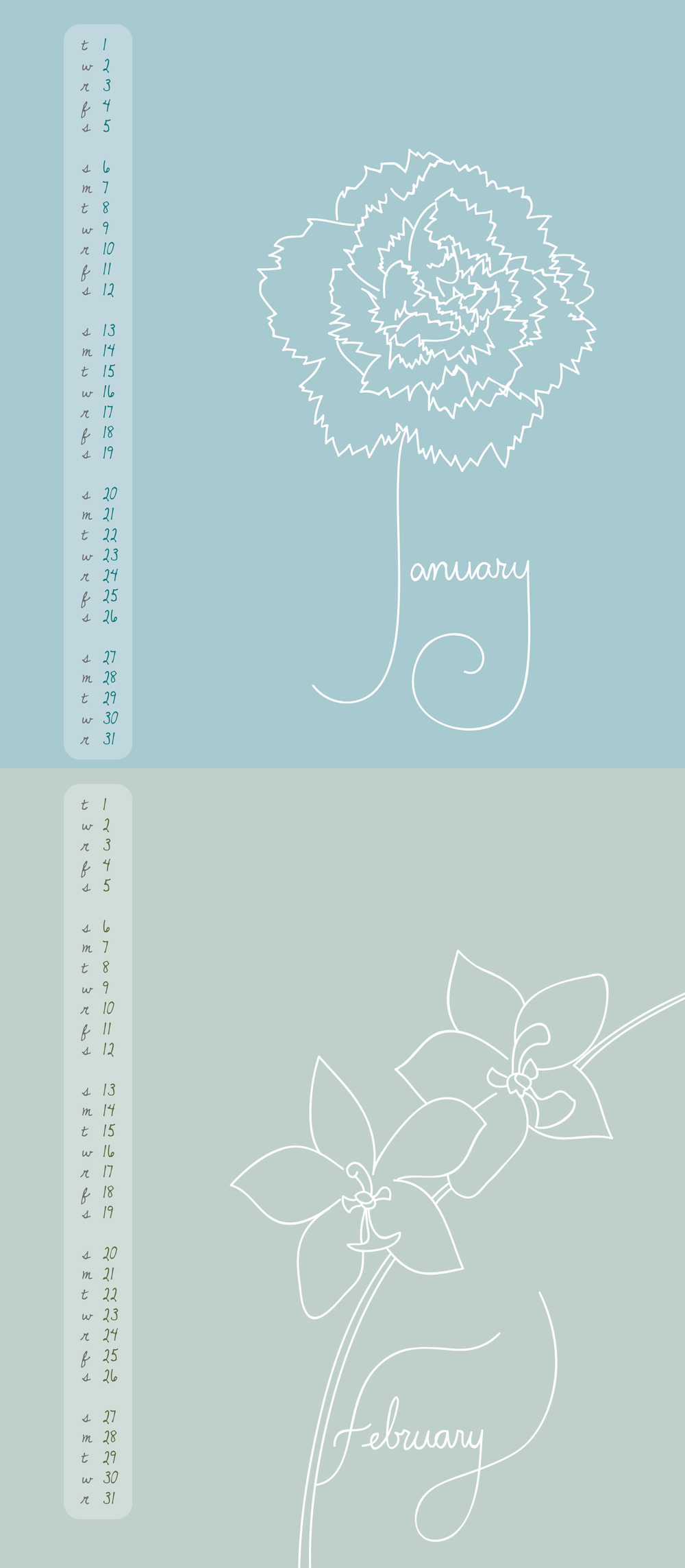 Calendar: Jan-Feb