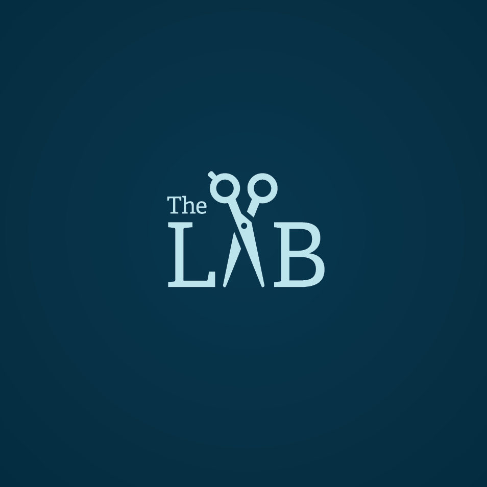 The L.A.B. (Lexington Academy of Barbering) logo