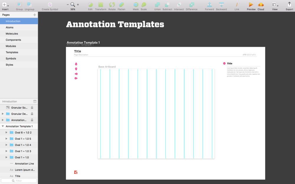Designers could easily begin their design and create quick annotations to share with team.