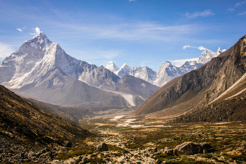 The trek to Everest Basecamp