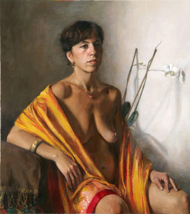 "Title : Diana     Artist:   Simona Dolci    Medium:   Oil on Canvas    Dimensions:   24"" x 27.5"""