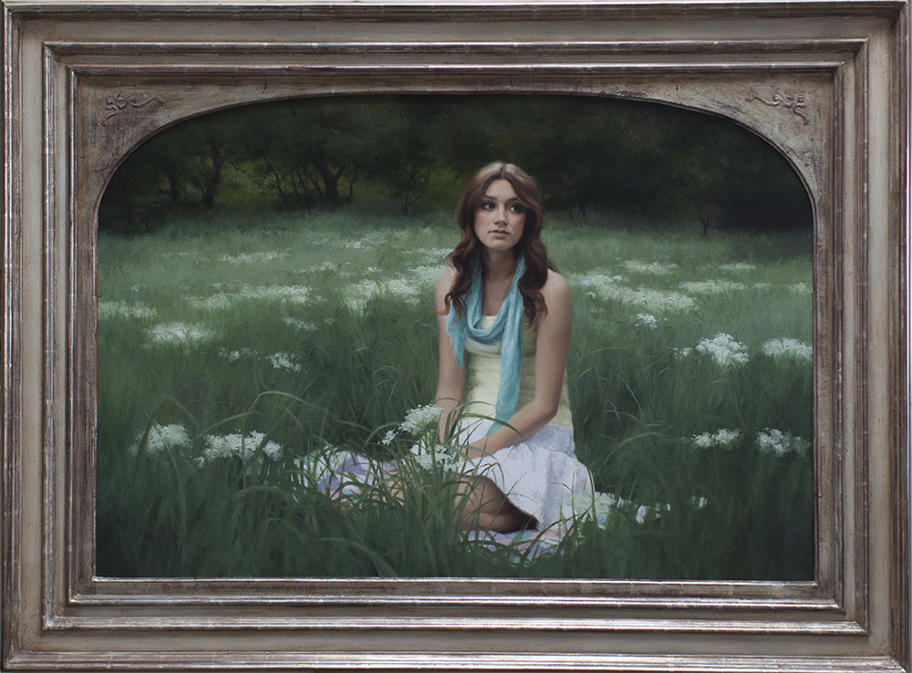 "Title: Wildflowers Artist: Ryan Brown Medium: Oil on Linen Dimensions: 30"" x 44"""