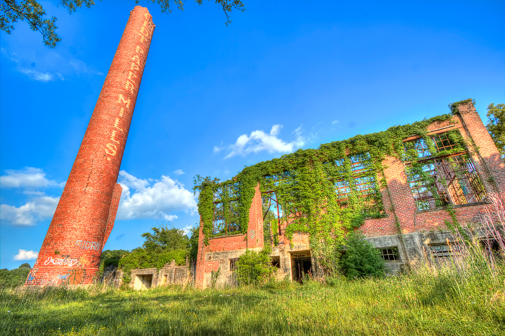 The abandoned Charles Boldt Paper Mill in New Iberia, LA