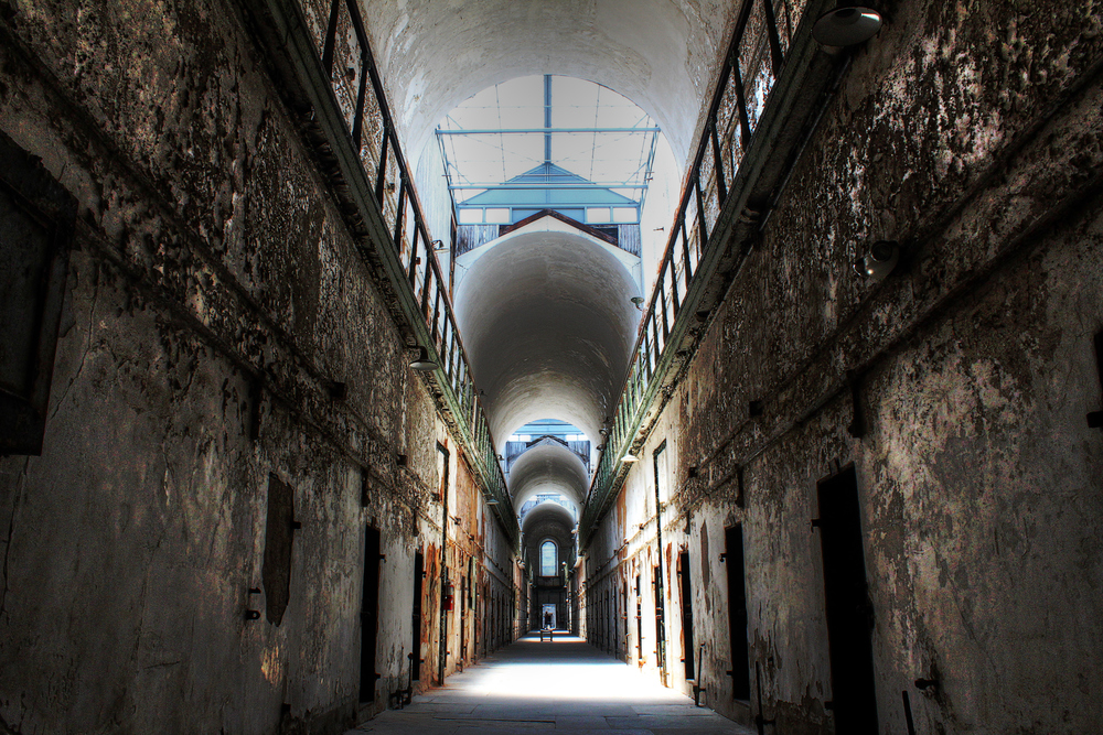 Cellblock in Eastern State Penitentiary