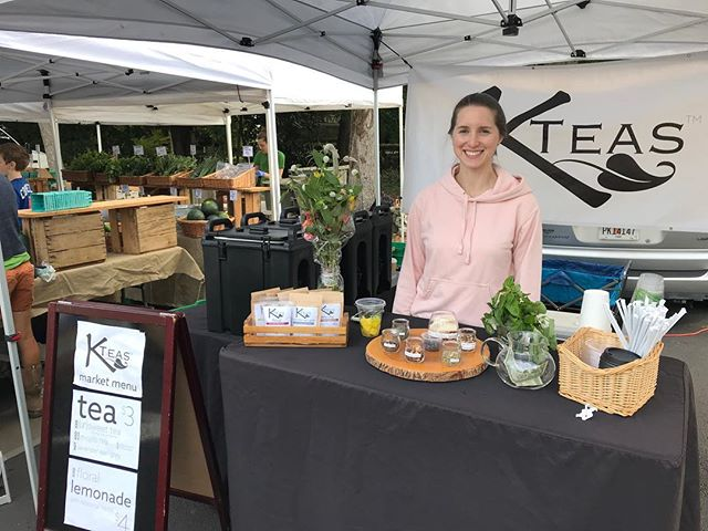 Loving this weather! And happily ignoring the forecast for next week. 😊 We love our @ptreefarmersmkt!! #kteas #drinkdifferent #prfm