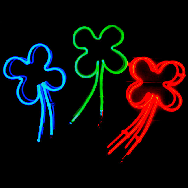 Four Leaf Clover Luminous Neon Sculpture