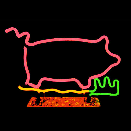 Designer Luminous Neon Pig Sculpture!