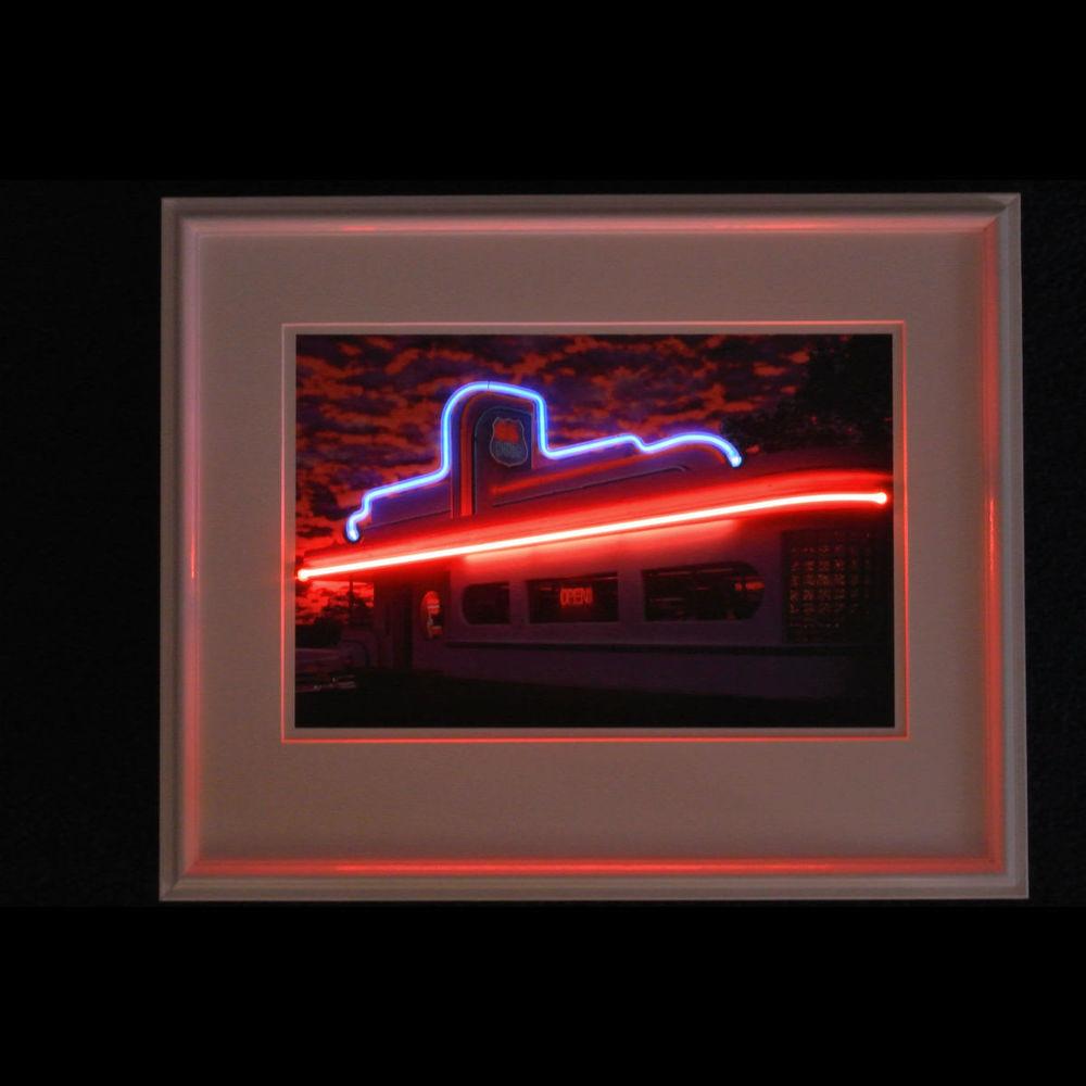 Cool Designer Route 66 Neon Diner!