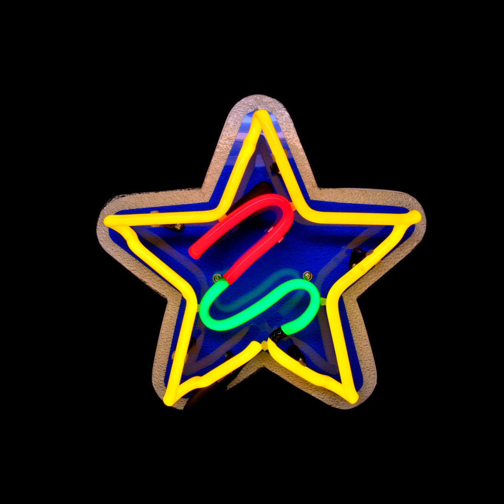 designer hand-blown neon star