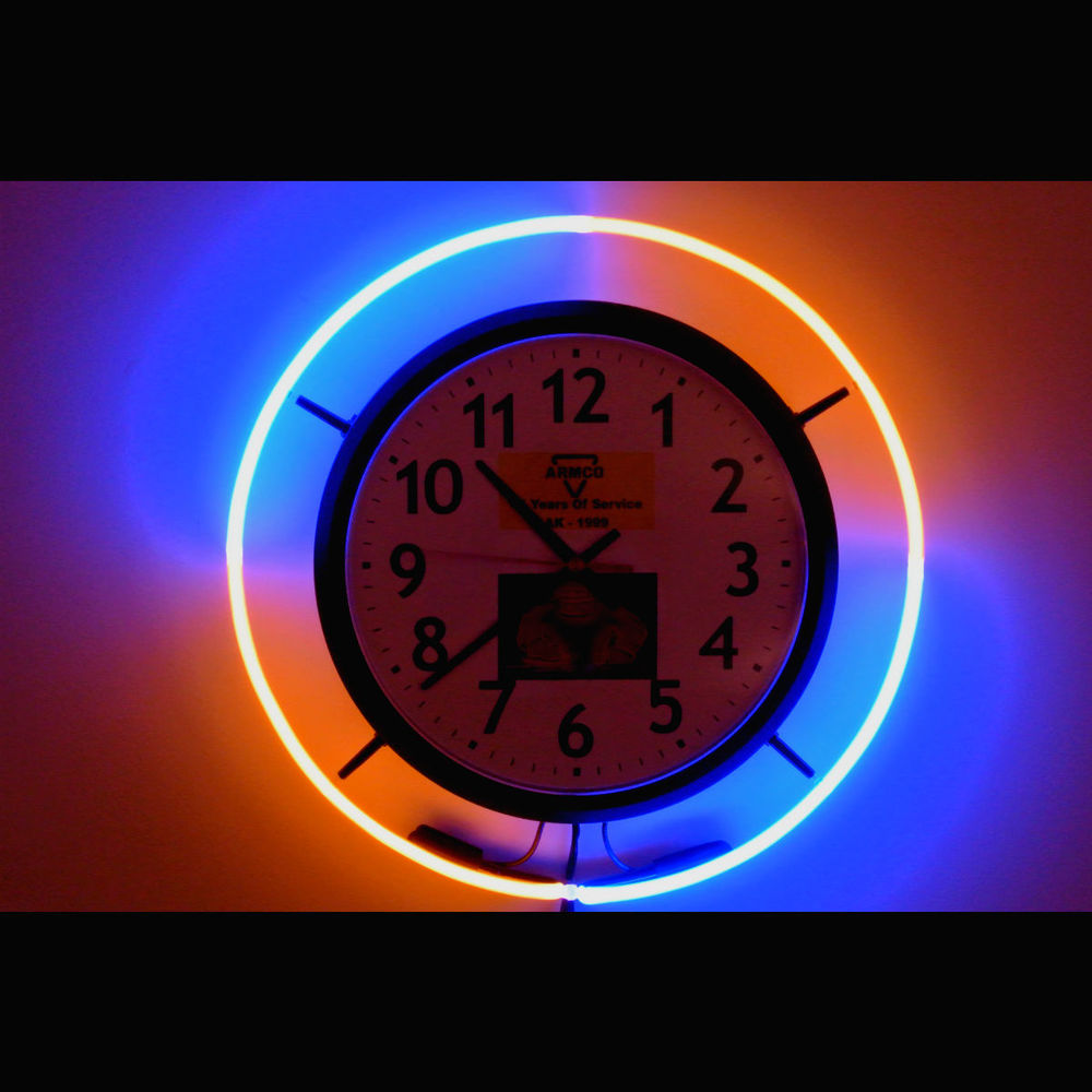 Elegant Custom Hand-Blown Neon Clocks!