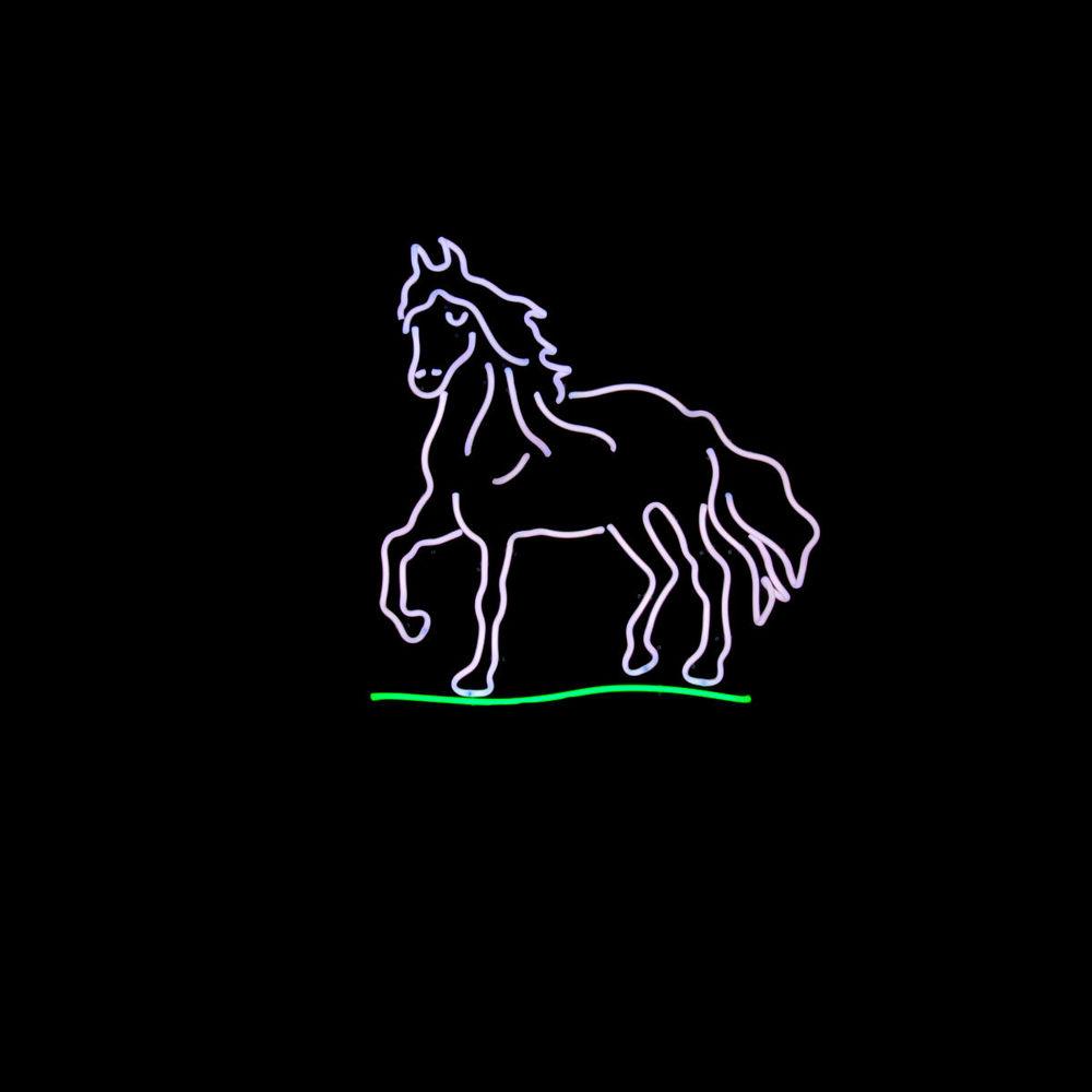 DAZZLING CUSTOM NEON HORSE SCULPTURES!