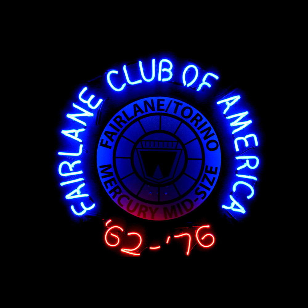 Antique/classic car club - custom neon logos
