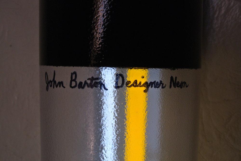 John Barton Designer Murano Italian stained glass neon light cylinders