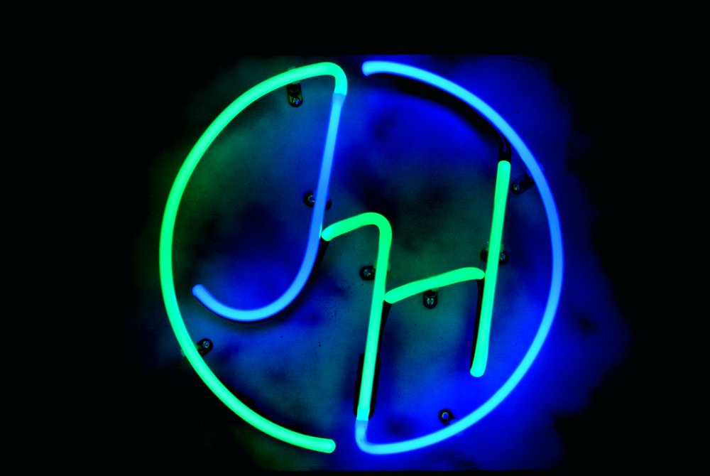 Custom Neon Designer Logos by John Barton - International Neon Light Sculptor