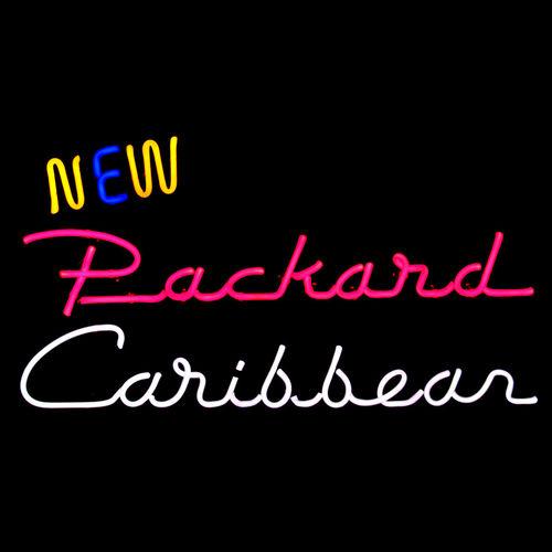 """""""New Packard Caribbean"""" - Packard Dealership Showroom Neon Sign by John Barton - former Packard New Car Dealer"""