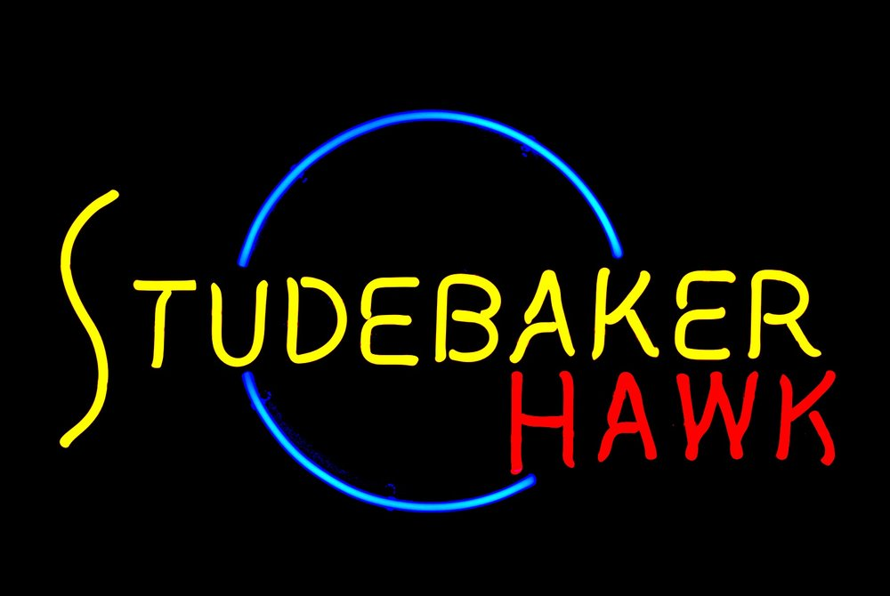 Studebaker Hawk Dealership Showroom Neon Sign by John Barton - former Studebaker Packard New Car Dealer - BartonNeonMagic.com