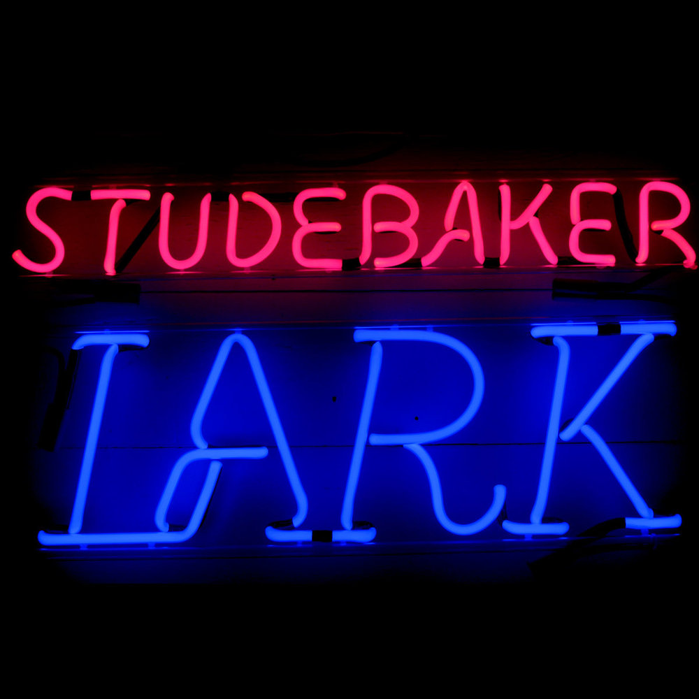 Studebaker Lark Dealership Neon Sign by John Barton - former Studebaker Packard New Car Dealer & Famous Neon Glass Artist - BartonNeonMagic.com