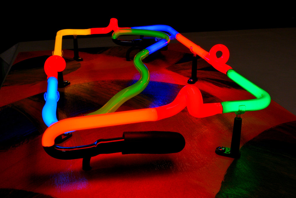 Stained Italian Glass Neon Light Sculptures by John Barton - BartonNeonMagic.com