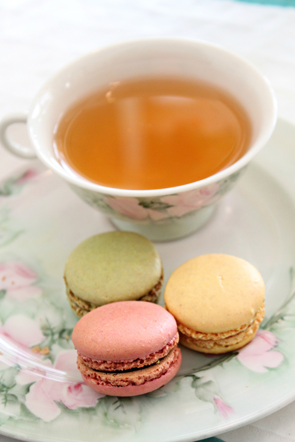tea time and macarons