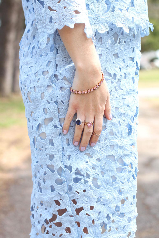 blue crochet