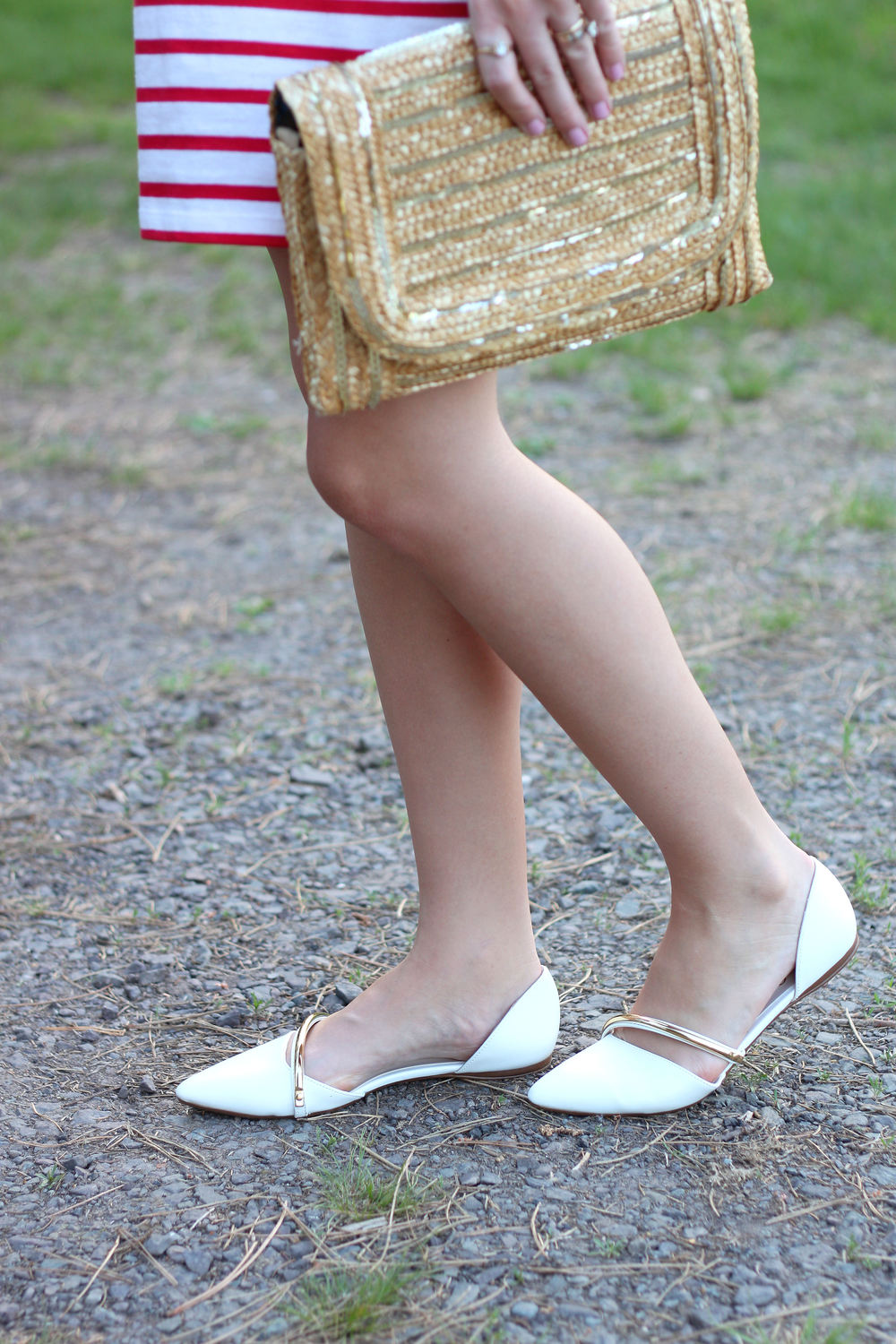 perfect white flats for summer