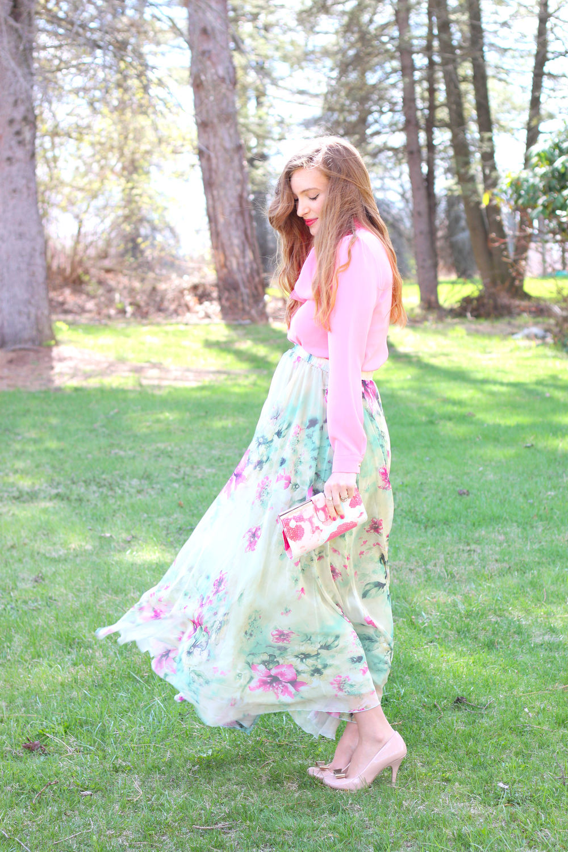 Floral Maxi- Enchanting Elegance