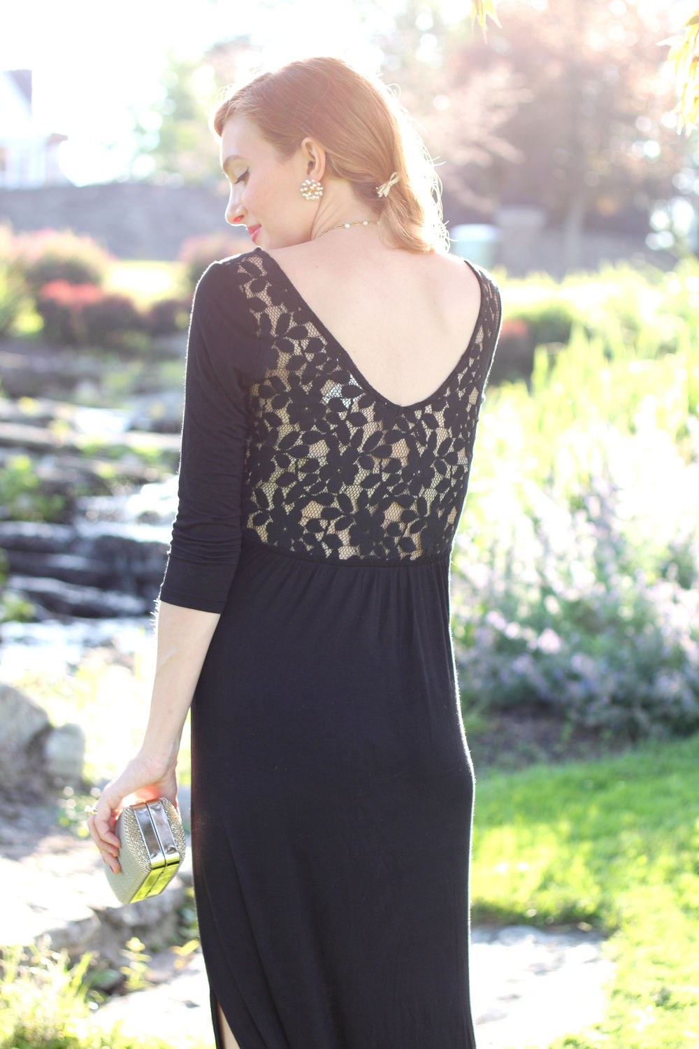Black Lace Maxi- Enchanting Elegance