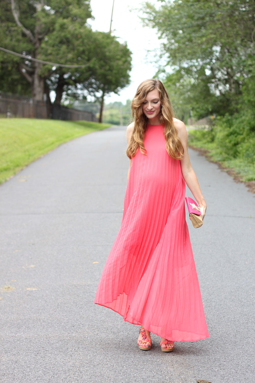 Pink Pleats- Enchanting Elegance