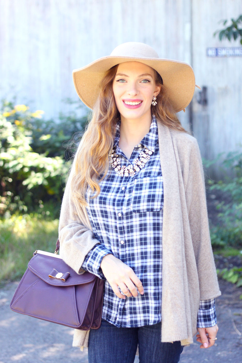 Blue Plaid and Cashmere- Enchanting Elegance