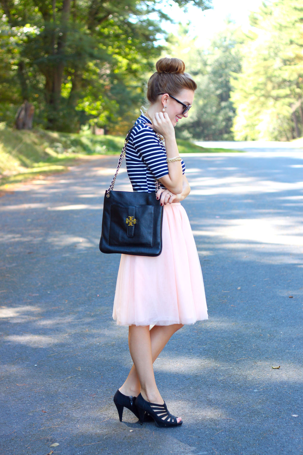 Stripes and Tulle- Enchanting Elegance