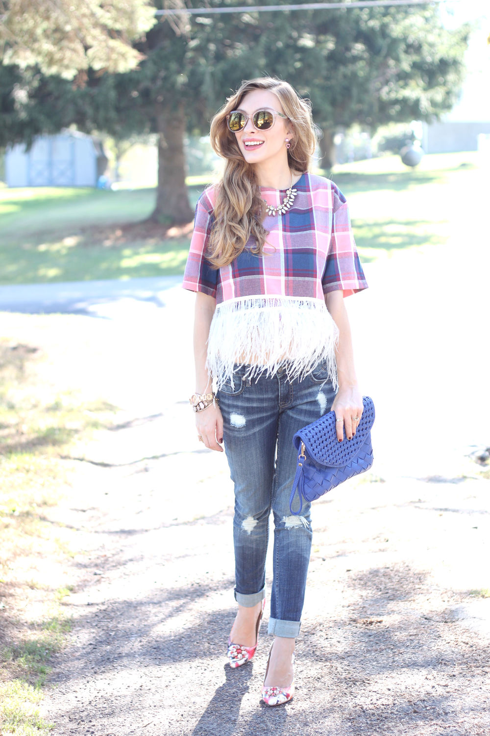 Plaid and Feathers- Enchanting Elegance