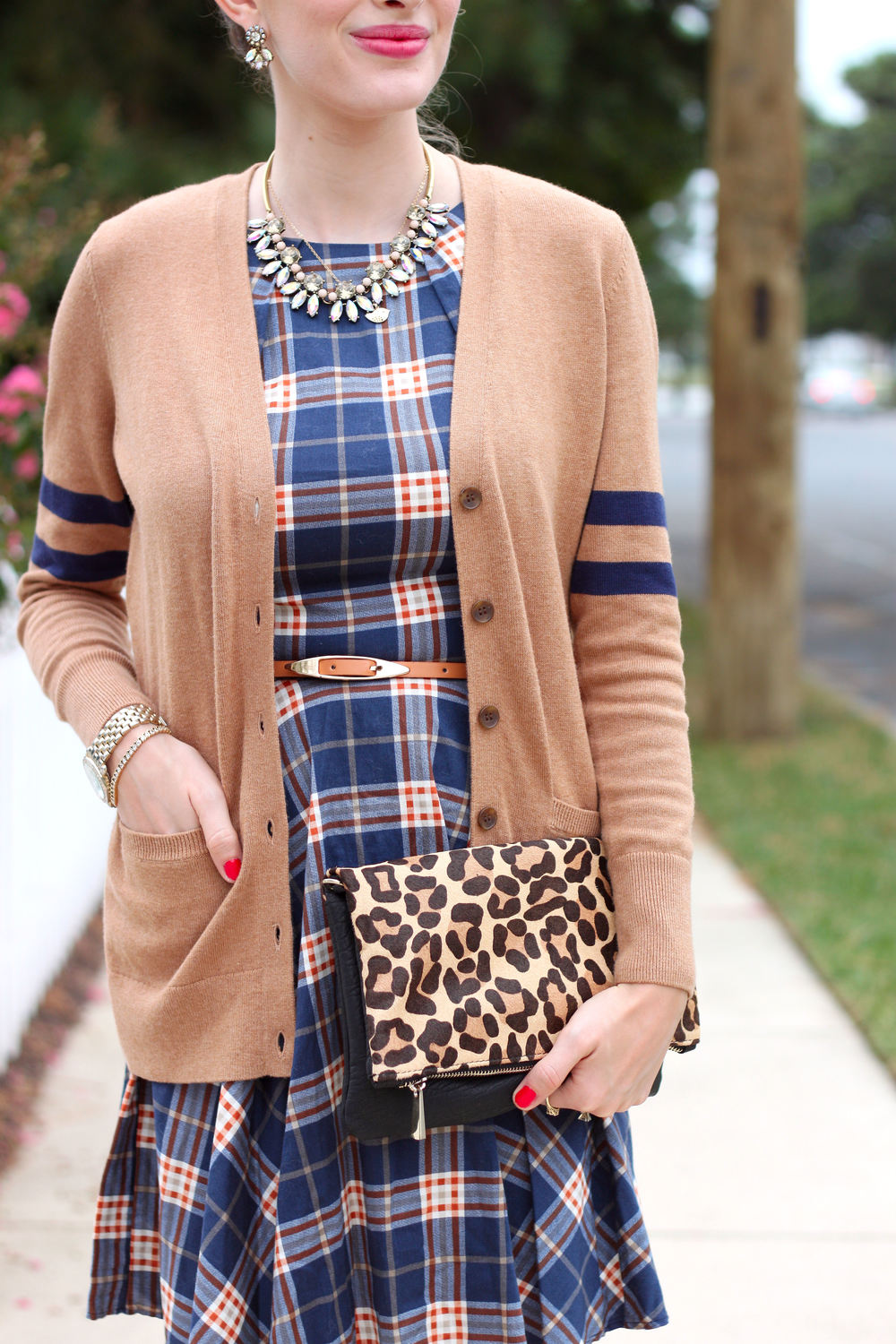 Plaid Dress- Enchanting Elegance