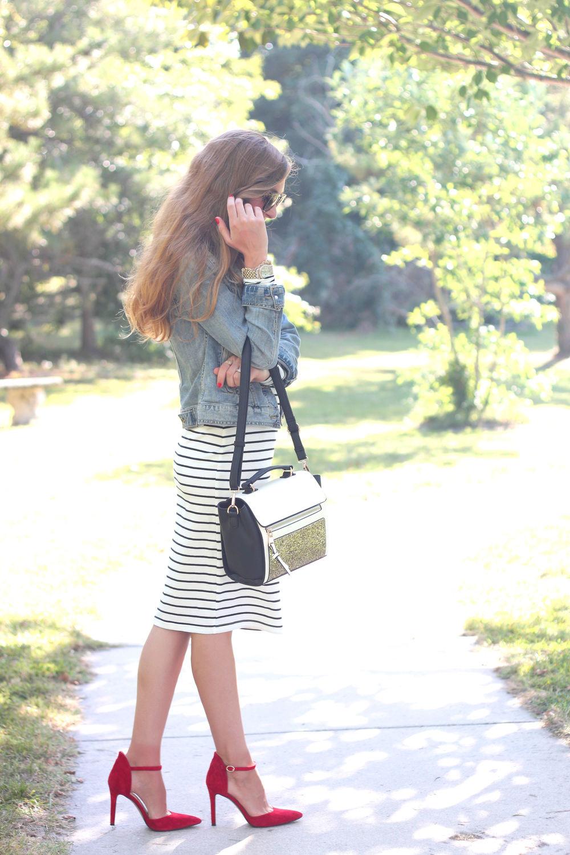 Striped Dress- Enchanting Elegance